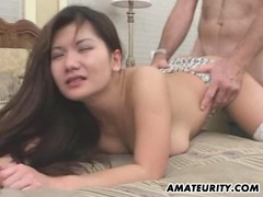 Busty amateur girlfriend sucks and fucks with facial videos