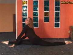 Skintight black spandex on ballerina beauty videos
