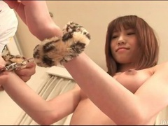 Leather boots japanese girl in handcuffs videos