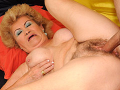 Hairy grandma getting pussy filled videos