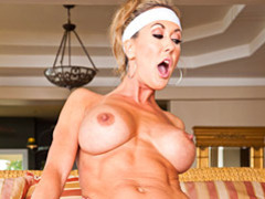 Cougar with huge jugs rides cock movies at freekilomovies.com