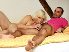 Cock sucking and riding blonde mature movies at lingerie-mania.com