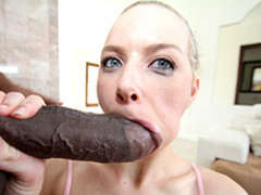Sporty blonde sucks big black cock videos