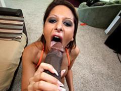She sucks big black cock to erection movies at find-best-lingerie.com