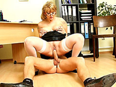 Young man fucks mature secretary movies at dailyadult.info