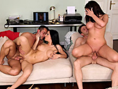 Fake tits euro babe foursome movies at very-sexy.com