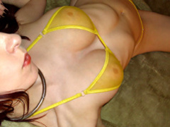 Shesnew tattooed redhead kajira striptease solo dildo movies