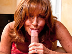Bj and footjob in pov from milf clip