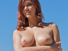 Selfdesire redhead babe jayden cole pool strip tease movies at kilomatures.com