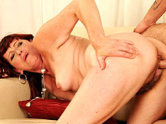 Cock is hot in mature pussy movies at lingerie-mania.com