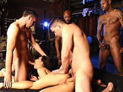 Wife in a hardcore gangbang videos