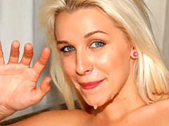 Blonde craves a facial tubes