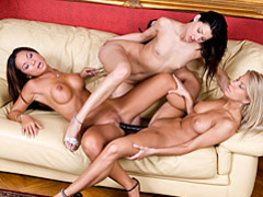 Lovely lady lesbian threesome videos