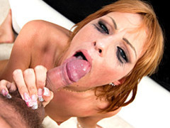 Redhead swallows after sex videos