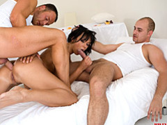 Two men bang a slut movies at sgirls.net