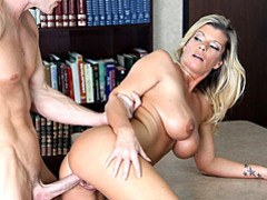 Big tits office pussy cramming videos