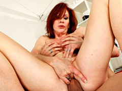 Sex with a redheaded milf is fun videos