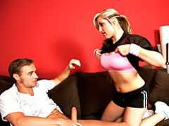 Girl in workout clothes sucks cock movies at kilotop.com