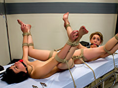 Two sluts tied to the bed videos