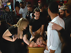 Boned at a bar with many viewers videos