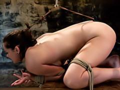 Toy fucking the bondage slut videos
