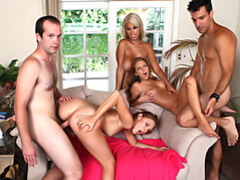 Three pornstars and two amateur guys movies at adipics.com