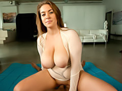 Tits bounce while she does movies at find-best-mature.com