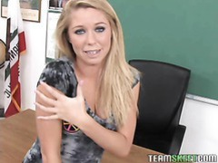 Blue eyed teen gets her pussy rammed hard by the dean movies at freekilosex.com