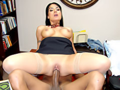 Milf rides black in the office movies at kilosex.com