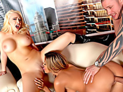 Busty babe threesome fuck scene movies at kilopics.net