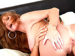 Busty mature brunette pussy fucked movies at lingerie-mania.com