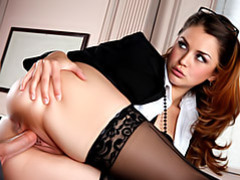 Office hottie in stockings movies