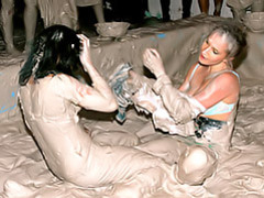 Hot girls mud wrestling videos