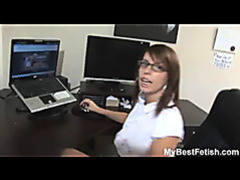 Big tits office babe give footjob movies at freelingerie.us