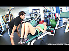 Hot chick melissa lauren gets her pussy licked fingered and fucked hard in the gym videos