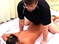 Latina with glasses rammed hard in the bedroom videos