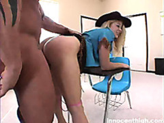 Blond teen in cowboy outfit fucked hard by her horny teacher videos