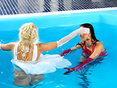 Girls in the pool clip