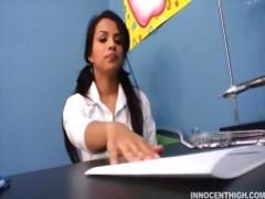 Latina teen schoolgirl has a crush on her teacher movies