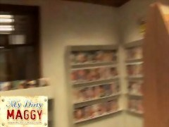 My-dirty-maggy.com video store sex session movies at sgirls.net