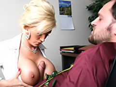 Office slut has huge tits movies at kilosex.com