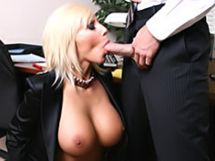 Work slut sucks cock movies at sgirls.net