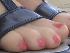 Daisy has sore feet after a day of shopping movies at find-best-tits.com