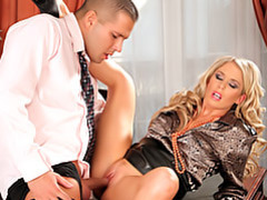 Elegant office slut movies at kilosex.com