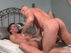 Hunk anal sex scene with both guys cumming videos