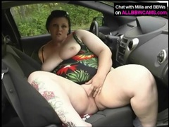 Super cute fat girl masturbates in the car videos