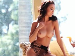Pornstar dillion harper in sexy lace teddy movies at lingerie-mania.com