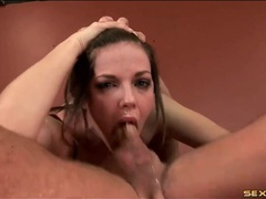 Bobbi starr gags on dick and spits up videos
