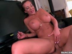 Long shaft fucks hot pussy of big boobs milf videos