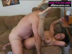 Chubby babe is limber in cock riding porn video videos